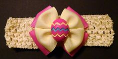 Baby Headband Easter Egg Headband Pink by GloriaMillerCreation