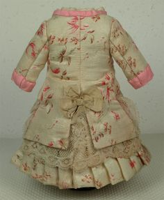 Marvelous Silk Satin Tiny French Bebe Doll Costume