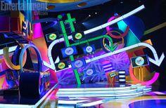Bühnen Design, Tv Set Design, Stage Set Design, Booth Design, Event Design, Nickelodeon Game Shows, Japan House Design, Arcade, Video Game Party