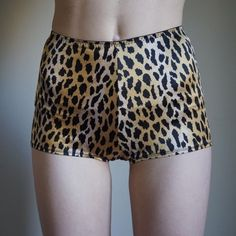 VS cheetah print hot shorts Victoria's Secret silky cheetah print high waisted hot shorts. In great, totally clean condition (modeled with underwear). Size M. Stretchy and comfortable. Victoria's Secret Intimates & Sleepwear