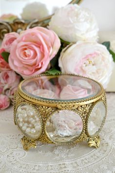 Stunning Antique Ormolu and Bevelled Glass by Jenneliserose