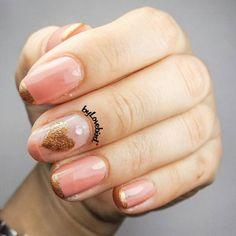 Cute heart nail art design byLovebird  #cute #heart #nails #nailart #pinknails #pinknailart #heartnailart @byLovebird #valentinesdaynails #nudenails