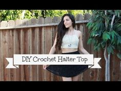DIY Crochet Halter Top - YouTube. Very cool making one at the moment. Defiantly worth a watch