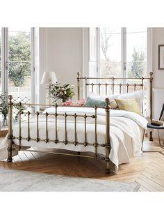 John Lewis & Partners Banbury Bed Frame, Super King Size, Antique Brass - Bed and Bedcover Superking Bed, Bedroom Bed, Bedroom Furniture, Bedroom Inspo, Furniture Sets, Bedroom Ideas, Master Bedroom, Furniture Design, Bedrooms