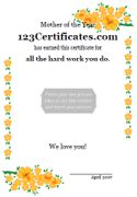 Free Printable Mother's Day Certificate Templates, Mother's Day Card, Personalized Mother's Day award template to print for free