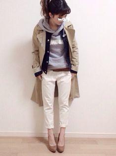 LOWRYS FARMのトレンチコート「トレンチコート 552752」を使ったmAy☆uMeのコーディネートです。WEARはモデル・俳優・ショップスタッフなどの着こなしをチェックできるファッションコーディネートサイトです。