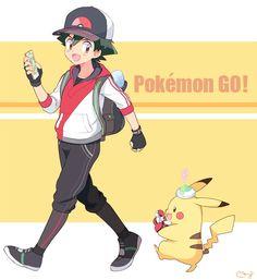 Ash play Pokemon Go