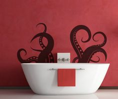 Tentacle Wall Decal Sticker: The newest interior design trend is adding vinyl art on interior walls. It's easier than hiring an artist and a lot cheaper. The smaller pieces can be put up within minutes. The larger pieces takes a little longer. The decals can be applied to all ...Read More @ http://greateststuffonearth.com/tentacle-wall-decal-sticker/