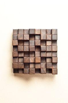 Geometric Patterned American Black Walnut Wood Wall Hanging. $29.00, via Etsy.