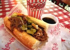 The 50 Best Foods to Eat in Chicago: Italian Beef Sandwich at Portillo's - The king of sandwiches in Chicago and a meat lover's dream. Paired best with the chocolate cake shake. Chicago Beef, Chicago Italian Beef, Chicago Trip, Chicago Style, Chicago Lake, Chicago Illinois, Italian Beef Sandwiches Chicago, Good Foods To Eat, Stuffed Hot Peppers