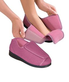 Womens Extra Extra Wide Width Adaptive Slippers - Diabetic - FIND OUT MORE INFO @: http://www.lizloveshoes.com/store/2016/05/28/womens-extra-extra-wide-width-adaptive-slippers-diabetic/
