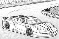Ferrari FXX Coloring Page