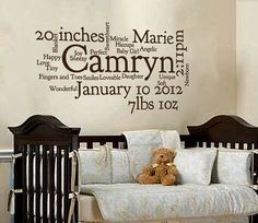 Custom Baby Girl Subway Art NEW FONT via Etsy