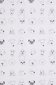 Dogs Wallpaper - Anthropologie.com