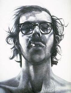 Chuck Close - Big Self Portrait, Probably one of my favorite art pieces ever. Chuck Close is a fine artist. Chuck Close Portraits, Chuck Close Paintings, Famous Self Portraits, Photo Polaroid, Walker Art, Photorealism, Art Plastique, Famous Artists, Art History