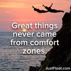 Great things never come from comfort zones. #quotes #inspiration