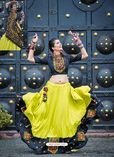 Lemon Designer Ethnic Wear Rajasthani Style Lehenga Choli