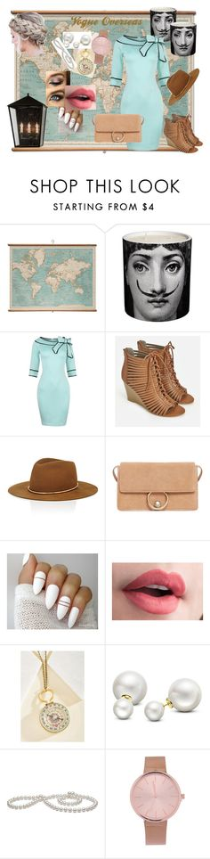 """Overseas"" by shanastar ❤ liked on Polyvore featuring WALL, Fornasetti, JustFab, Janessa Leone, MANGO, Allurez and vintage"