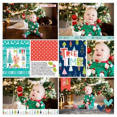 Bella Blvd Digital Holly Jolly Christmas Collection | Tree Time Digital Layout by Marla Thrall