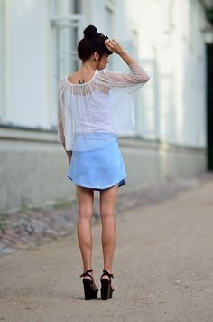 at the end of summer.....#sheer #chic