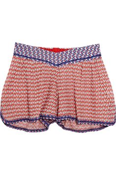 These look so comfy!! | Missoni | Pois crochet-knit shorts | NET-A-PORTER.COM