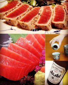 Fresh TUNA is here! Come try our tuna sashimi and tuna tataki before we sell out新鮮なマグロde刺身&炙り #tuna #sashimi #tataki #aburi #torched #freshisbest #beautiful #saturday #weekend #ilovesake #yeg #yegfood #yegdrinks #ikki #izakaya #happyhour5pm-7pm #$5sake #seeyousoon by ikkiyeg