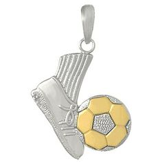 88 best sport pendants images on pinterest baseball stuff amazon 925 solid sterling silver sports necklace charm pendant soccer shoe kicking aloadofball Image collections