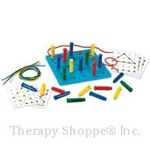 Stringing Pegs and Pegboard Set Card Patterns, Color Patterns, Toys For Boys, Kids Toys, Educational Toys For Kids, Learning Through Play, Home Hardware, Activities For Kids, Crafts