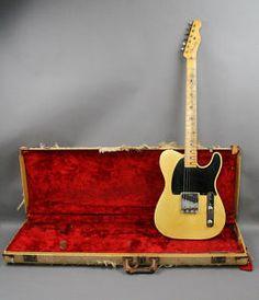 USA-1953-Vintage-Fender-Telecaster-Esquire-Blackguard-guitar-original-OHSC