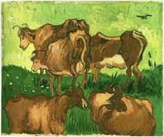 Cows (after Jordaens) by Vincent Van Gogh - 89 - Painting