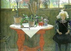 Carl Larsson: Swedish Realist Painter, 1853-1919 ~ kaktus-lisbeth i ateljen