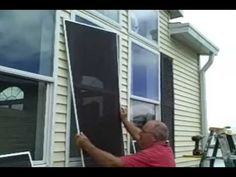 How to Install solar window screens « Construction & Repair