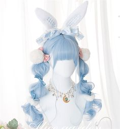 Kawaii Hairstyles, Pretty Hairstyles, Wig Hairstyles, Anime Wigs, Anime Hair, Cosplay Hair, Cosplay Wigs, Cosplay Kawaii, Kawaii Wigs