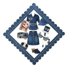 """""""Denim party"""" by joannagrece on Polyvore featuring MIA, LE3NO, Moschino, Chanel, SO, Christian Dior, Ray-Ban, Cara, Ben-Amun and Nine West"""