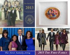 """The First family  (3) Commemorative   """"12 Page  Calendars & Coin  GIFT SET"""