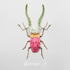 """Florsani X Reikan Creation: """"Stag Beetle"""" Continuation of the latest project with for their new campain """"Do It With Love"""" ***All pictures except insects are exclusive properties of Florsani Floricola - Land Art, Dragonfly Garden Decor, Creative Class, Animal Sculptures, Metal Sculptures, Wood Sculpture, Bronze Sculpture, Pressed Flower Art, Insect Art"""