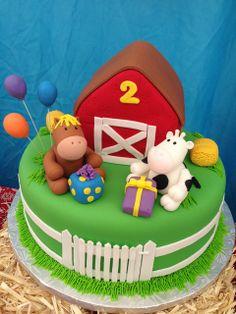Cake at a Farm Party #farm #partycake