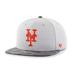 c37defde6ec New York Mets Recon Camo Captain Gray 47 Brand Adjustable Hat