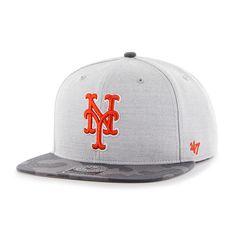 New York Mets Recon Camo Captain Gray 47 Brand Adjustable Hat