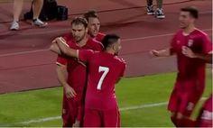 เซอร์เบียอุ่นเครื่องดุจัดหนักอิสราเอลเละ 3-1 เกมนี้กัปตันบรานิสลาฟ อิวาโนวิชแข้งคนดังของเชลซีพาลูกทีมออกนำได้ตั้งแต่นาทีที่ 34 ก่อนจะโดนทางอิสราเอลไล่ตีเสมอจากลูกจุดโทษในช่วงต้นครึ่งหลัง แต่แล้วด้วยศักยภาพทีมที่เหนือกว่าหลายขุมของเซอร์เบียสุดท้ายพวกเขาก็มาได้ประตูทิ้งห่างไปอีก 2 ประตู ฝั่งอิสลาเอลมิด 3-1  http://anivisi.com/