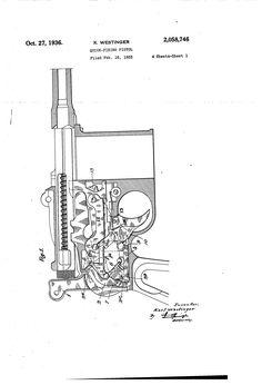 Patent US2058746 - Quick-firing pistol
