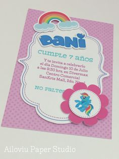 My little Pony party invitation :) Invitación My Little Pony
