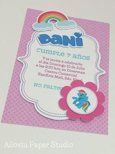 My little Pony party invitation :) Invitación My Little Pony
