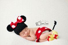 San Antonio newborn photographer, newborn photography, minnie mouse  www.facebook.com/lenslovephotos