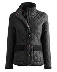 Womens Quilted Jacket - Black