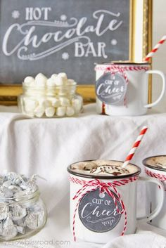 Sunny Side Up: Hot Chocolate Station
