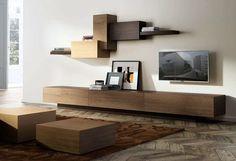 System of shelving and cabinetry based on the Suprematist art movement / Colección de muebles de salón basada en el suprematismo.