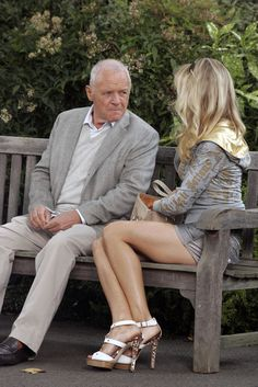 Anthony Hopkins Photos - Woody Allen directs Sir Anthony Hopkins, Naomi Watts and Lucy Punch on the set of the currently named 'Untitled Woody Allen London Project' . - Naomi Watts and Anthony Hopkins Work with Woody Allen