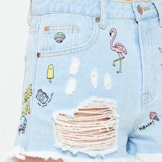 Jeansowe szorty - SPODNIE - NOWA KOLEKCJA - DZIEWCZYNA