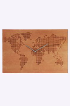 Wooden world map clock. Urban Outfitters